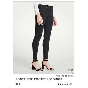 Ann Taylor Pocket Leggings